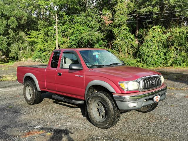 Salvage cars for sale from Copart Harleyville, SC: 2002 Toyota Tacoma XTR