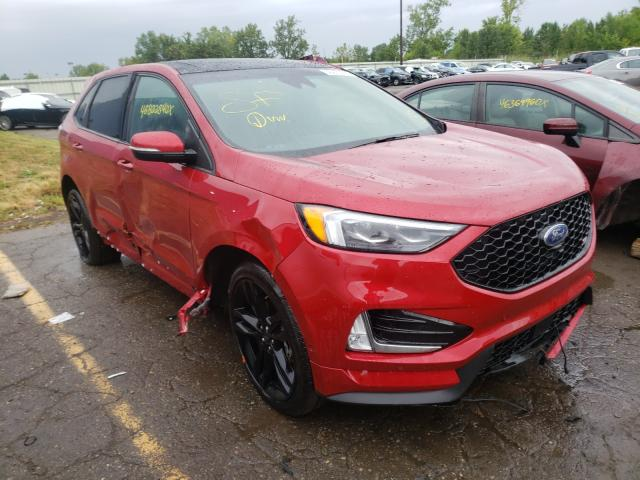 Salvage cars for sale from Copart Woodhaven, MI: 2020 Ford Edge ST