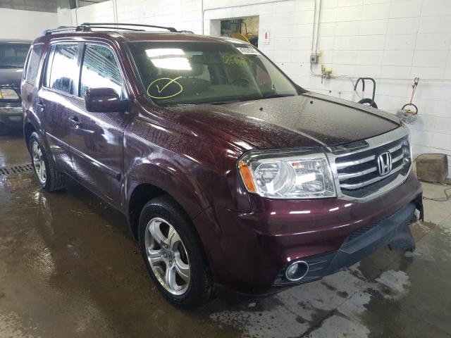Salvage cars for sale from Copart Blaine, MN: 2013 Honda Pilot EXL