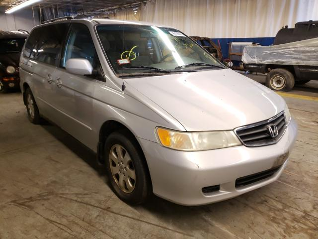 Salvage cars for sale from Copart Wheeling, IL: 2004 Honda Odyssey EX