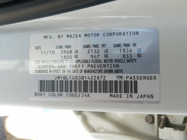 JM1BL1UG3B1422872 2011 Mazda 3 I 2.0L