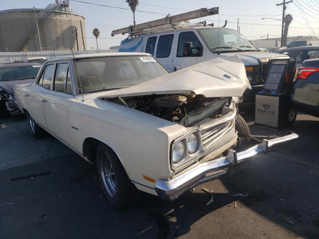 Salvage cars for sale from Copart Wilmington, CA: 1969 Plymouth Satellite