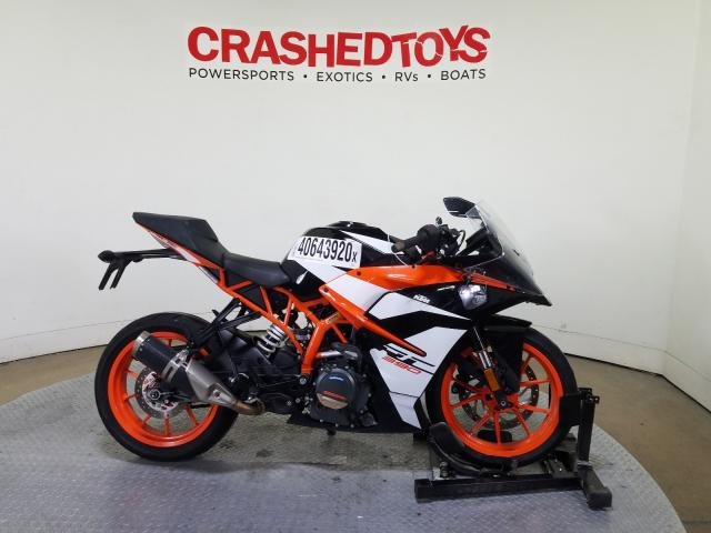 KTM salvage cars for sale: 2017 KTM RC 390