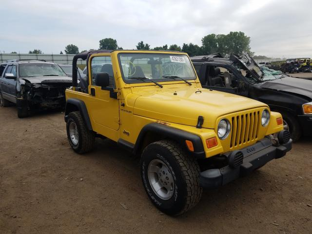 Jeep Wrangler salvage cars for sale: 2001 Jeep Wrangler