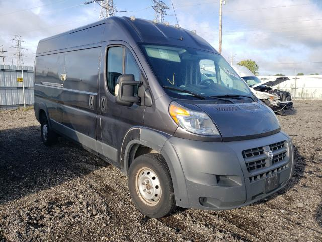 Salvage trucks for sale at Elgin, IL auction: 2017 Dodge RAM Promaster