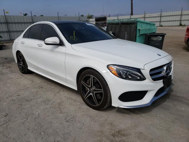 Salvage cars for sale from Copart Van Nuys, CA: 2015 Mercedes-Benz C 400 4matic