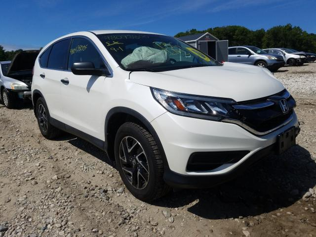 Honda CR-V SE salvage cars for sale: 2016 Honda CR-V SE