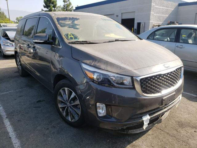 KIA Sedona EX salvage cars for sale: 2016 KIA Sedona EX