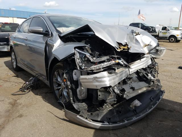 Salvage cars for sale from Copart Woodhaven, MI: 2015 Chrysler 200 C