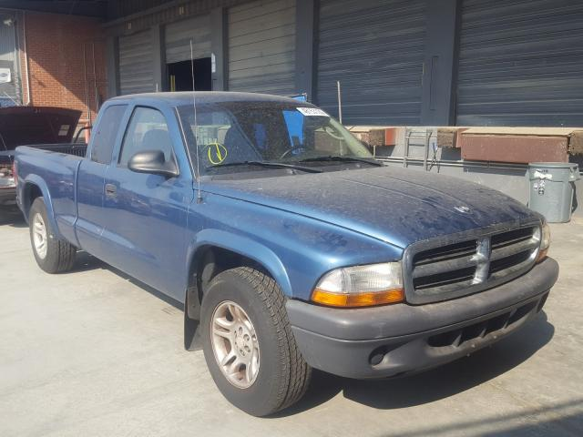 Salvage cars for sale from Copart Hayward, CA: 2004 Dodge Dakota SXT