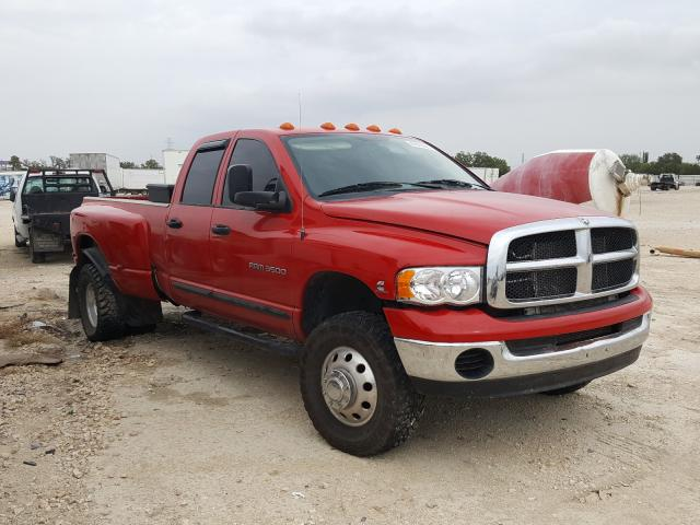 Salvage cars for sale from Copart New Braunfels, TX: 2005 Dodge RAM 3500 S