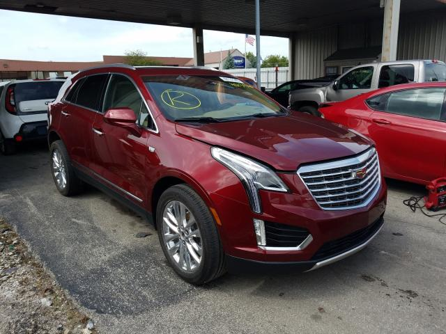 Cadillac XT5 Platinum salvage cars for sale: 2017 Cadillac XT5 Platinum