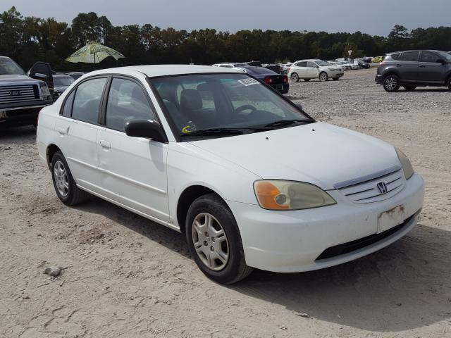 Salvage cars for sale from Copart Houston, TX: 2002 Honda Civic LX