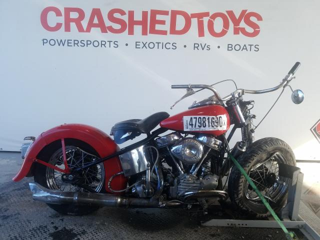 Harley-Davidson FL salvage cars for sale: 1950 Harley-Davidson FL