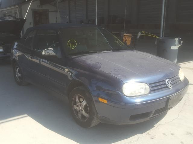 Salvage cars for sale from Copart Hayward, CA: 2000 Volkswagen Cabrio GLS