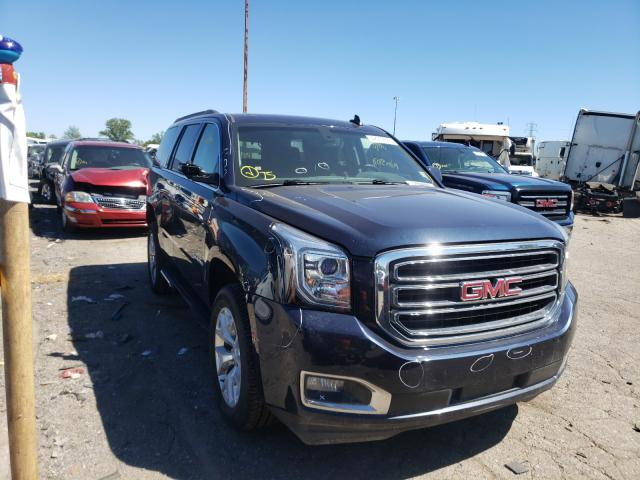 Salvage cars for sale from Copart Woodhaven, MI: 2017 GMC Yukon SLE