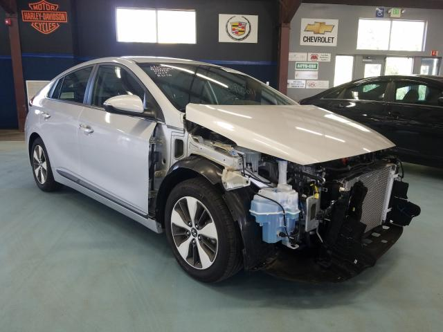 Salvage cars for sale from Copart East Granby, CT: 2019 Hyundai Ioniq Limited