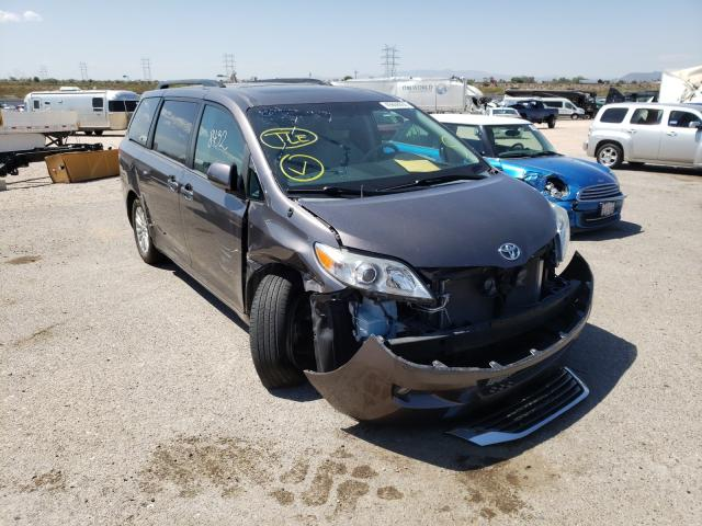 Toyota Sienna XLE salvage cars for sale: 2012 Toyota Sienna XLE