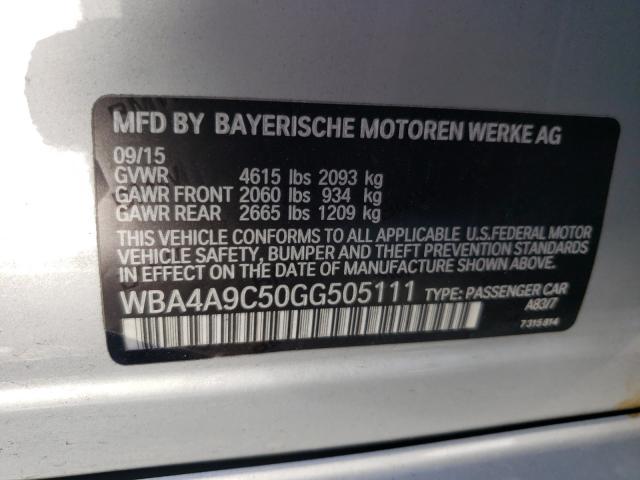 2016 BMW 4 series | Vin: WBA4A9C50GG505111