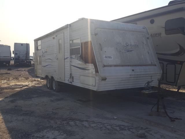Keystone Travel Trailer salvage cars for sale: 2002 Keystone Travel Trailer