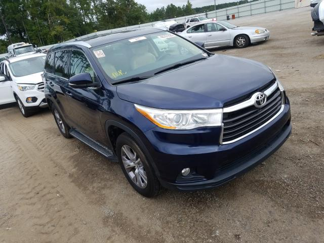 Salvage cars for sale from Copart Harleyville, SC: 2014 Toyota Highlander