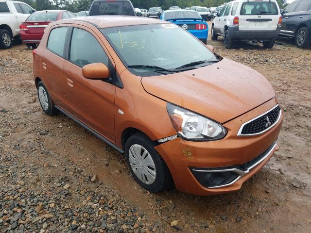 Mitsubishi salvage cars for sale: 2018 Mitsubishi Mirage ES