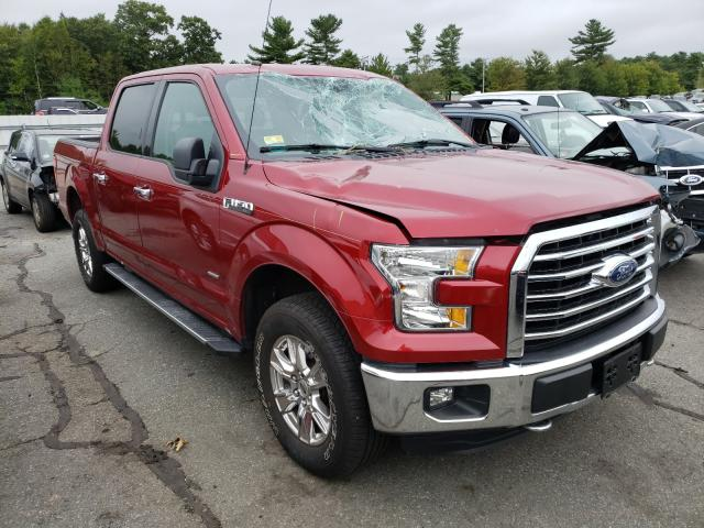 Salvage cars for sale from Copart Exeter, RI: 2016 Ford F150 Super