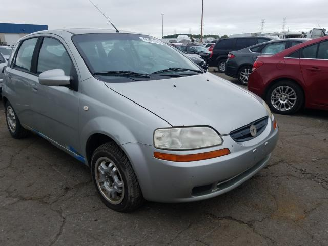 Chevrolet Aveo Base salvage cars for sale: 2005 Chevrolet Aveo Base