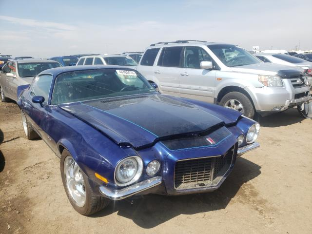 Chevrolet Camaro salvage cars for sale: 1973 Chevrolet Camaro