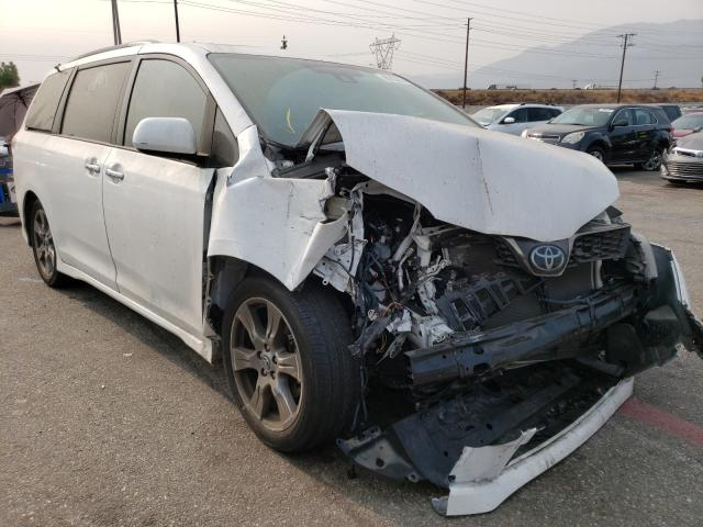 Salvage cars for sale from Copart Rancho Cucamonga, CA: 2019 Toyota Sienna SE