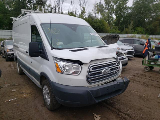 Salvage cars for sale from Copart Davison, MI: 2018 Ford Transit T