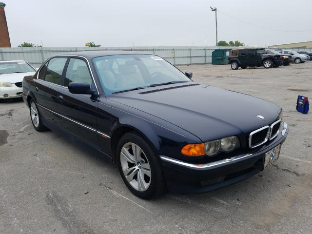 BMW 740 IL salvage cars for sale: 2000 BMW 740 IL