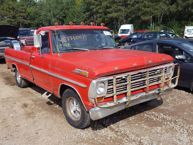 Ford F100 salvage cars for sale: 1968 Ford F100