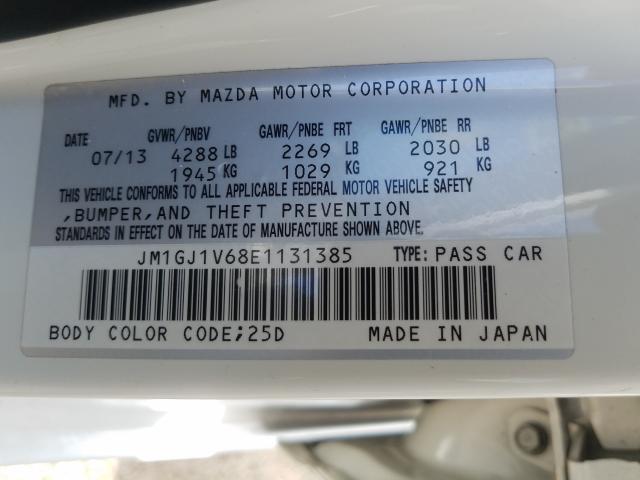 2014 Mazda 6 | Vin: JM1GJ1V68E1131385