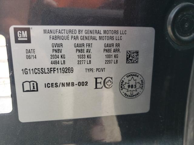 2015 Chevrolet MALIBU | Vin: 1G11C5SL3FF119269