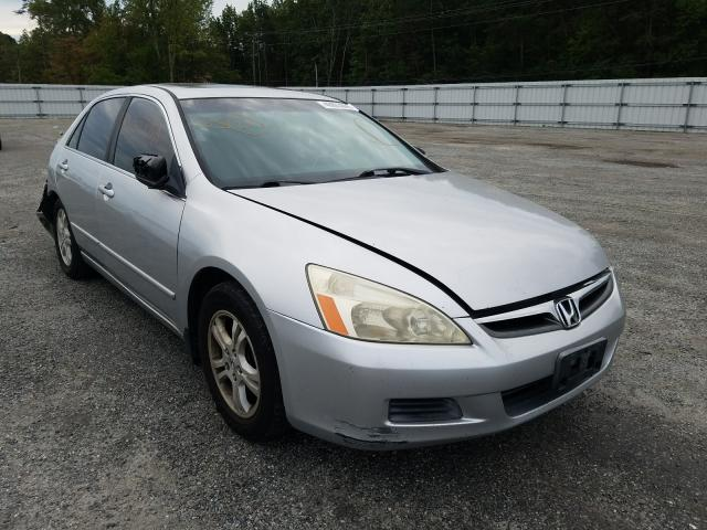 Salvage cars for sale from Copart Fredericksburg, VA: 2006 Honda Accord EX