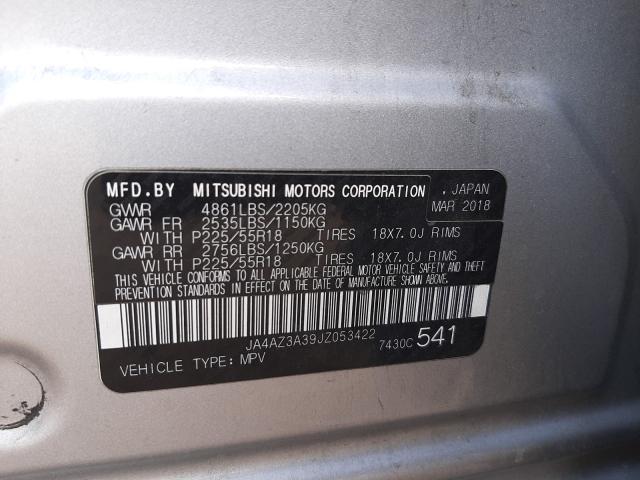 2018 Mitsubishi OUTLANDER | Vin: JA4AZ3A39JZ053422