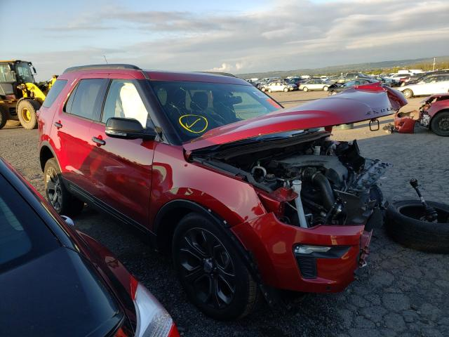 Salvage cars for sale from Copart Pennsburg, PA: 2018 Ford Explorer S