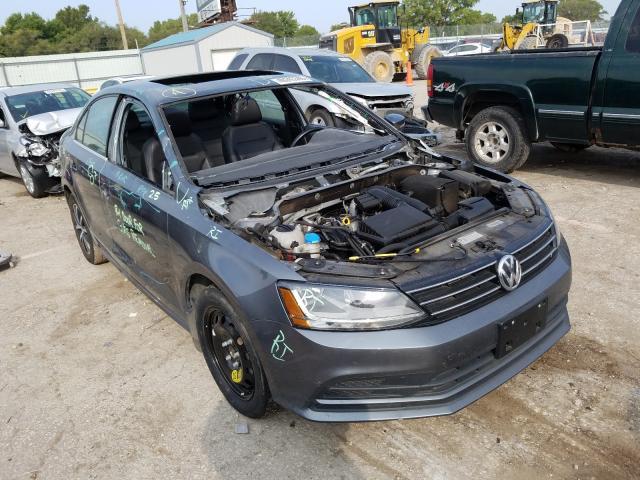 Salvage cars for sale at Wichita, KS auction: 2017 Volkswagen Jetta SE