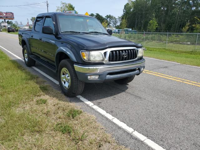 Salvage cars for sale from Copart Harleyville, SC: 2003 Toyota Tacoma DOU