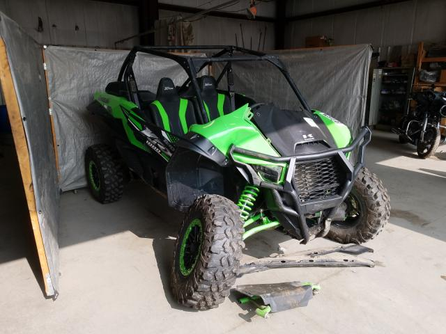Salvage cars for sale from Copart Duryea, PA: 2020 Kawasaki KRF 1000 A