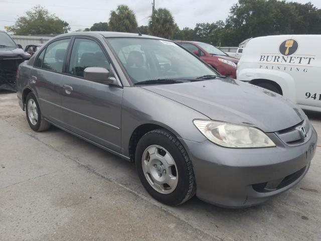 Salvage cars for sale from Copart Punta Gorda, FL: 2004 Honda Civic Hybrid