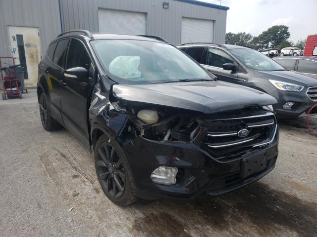 Salvage cars for sale from Copart Rogersville, MO: 2017 Ford Escape Titanium