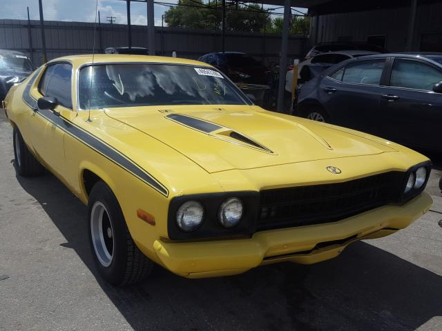 Plymouth salvage cars for sale: 1973 Plymouth Roadrunner