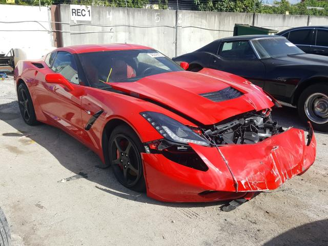 Salvage cars for sale from Copart Opa Locka, FL: 2019 Chevrolet Corvette S