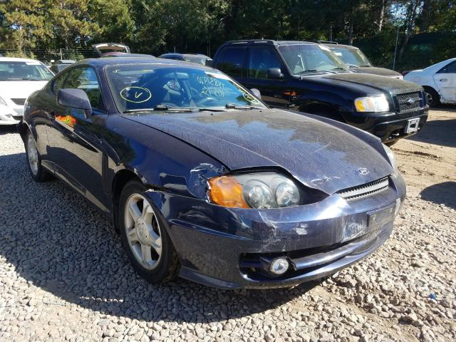 Hyundai Tiburon salvage cars for sale: 2004 Hyundai Tiburon