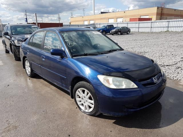 Honda salvage cars for sale: 2005 Honda Civic LX