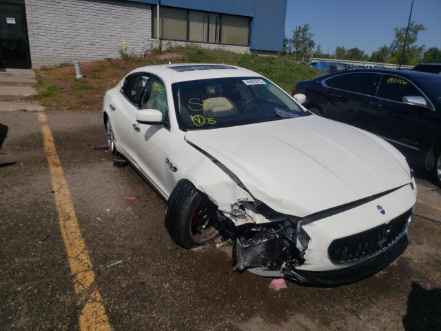 Salvage cars for sale from Copart Woodhaven, MI: 2014 Maserati Quattropor