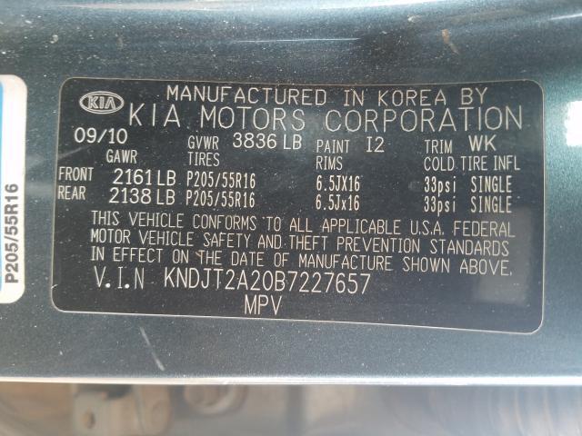 2011 Kia SOUL | Vin: KNDJT2A20B7227657