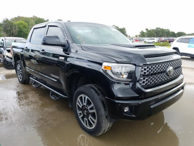 Salvage cars for sale from Copart Riverview, FL: 2018 Toyota Tundra CRE